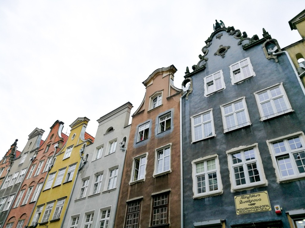 Colourful facades in Gdansk Poland