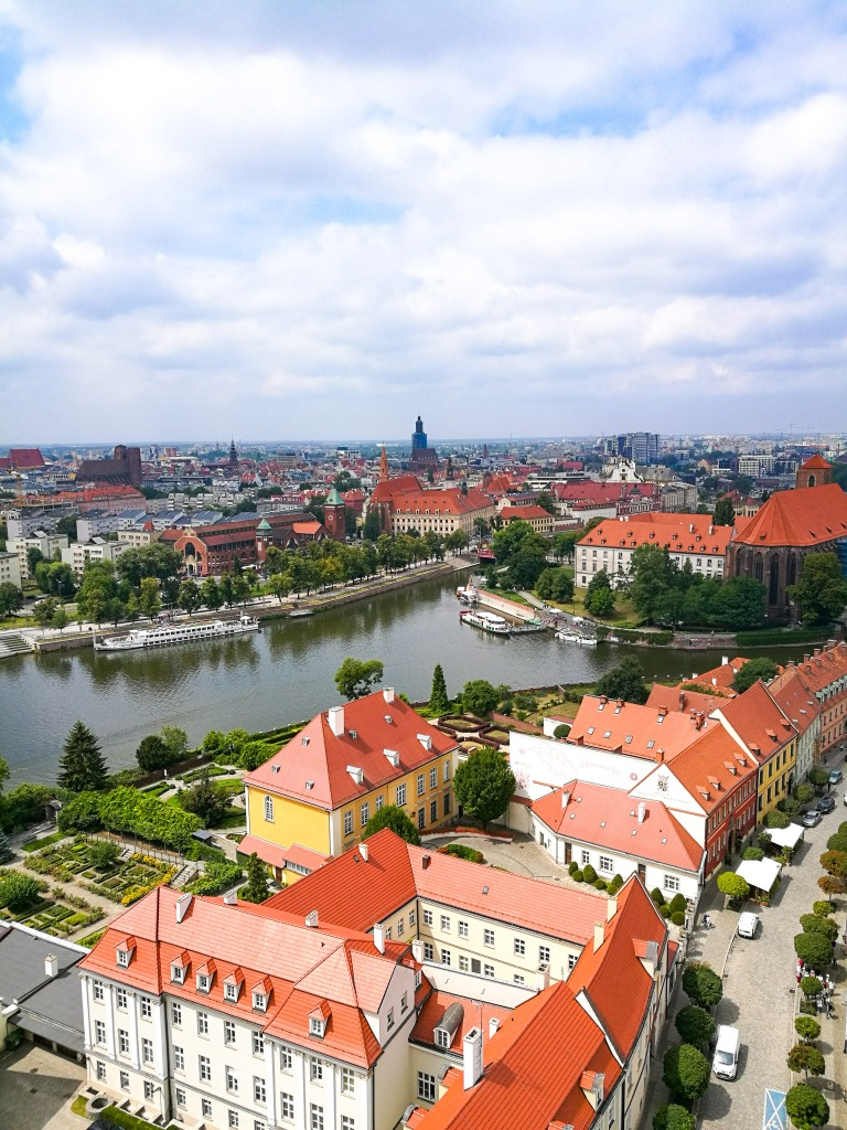 The view from Wrocław Cathedral in summer.