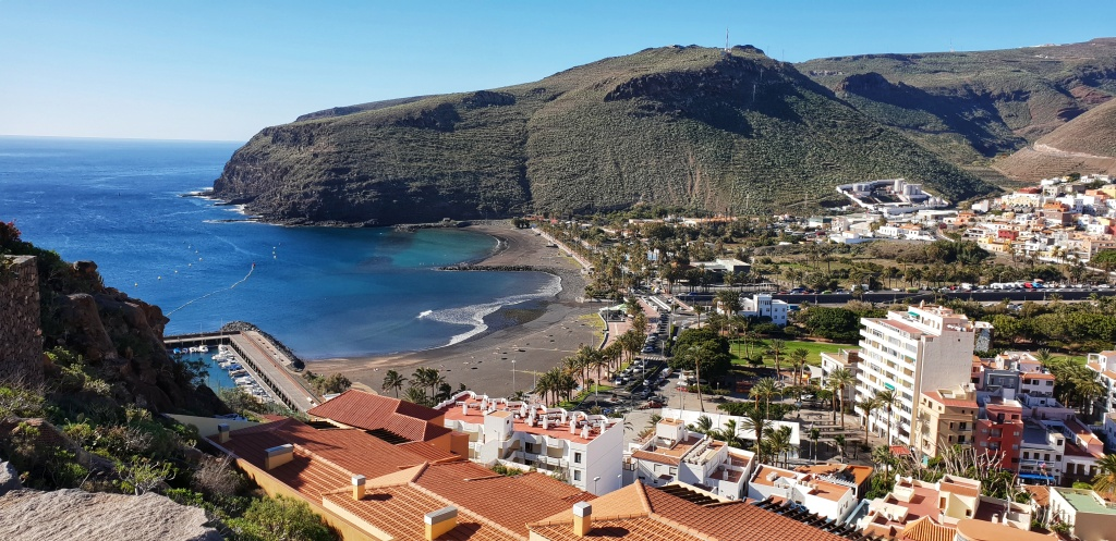 San Sebastian de La Gomera seen from a hill