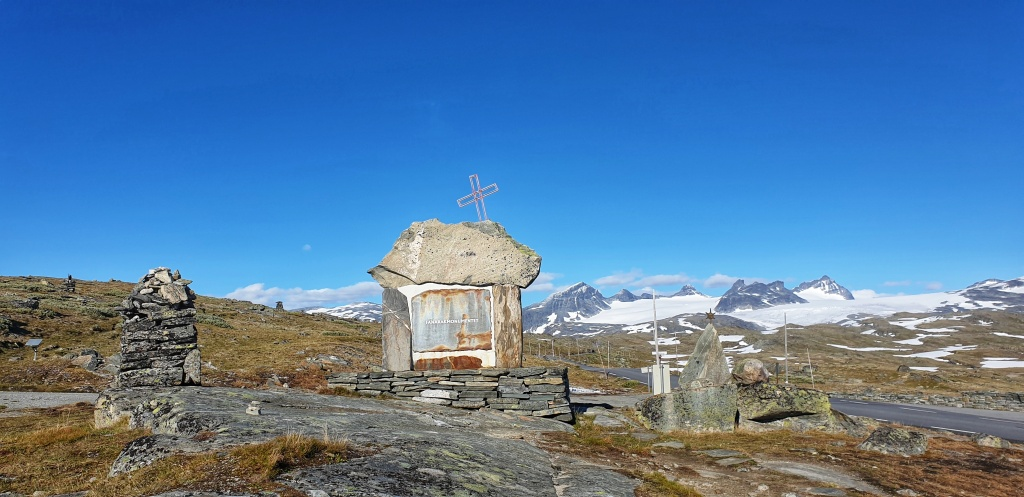 Memorial site by Sognefjellet Norwegian Scenic Route