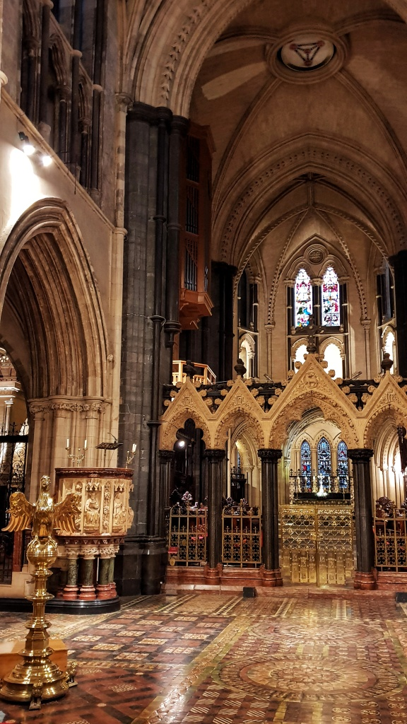 Interior of Christchurch Cathedral in Dublin